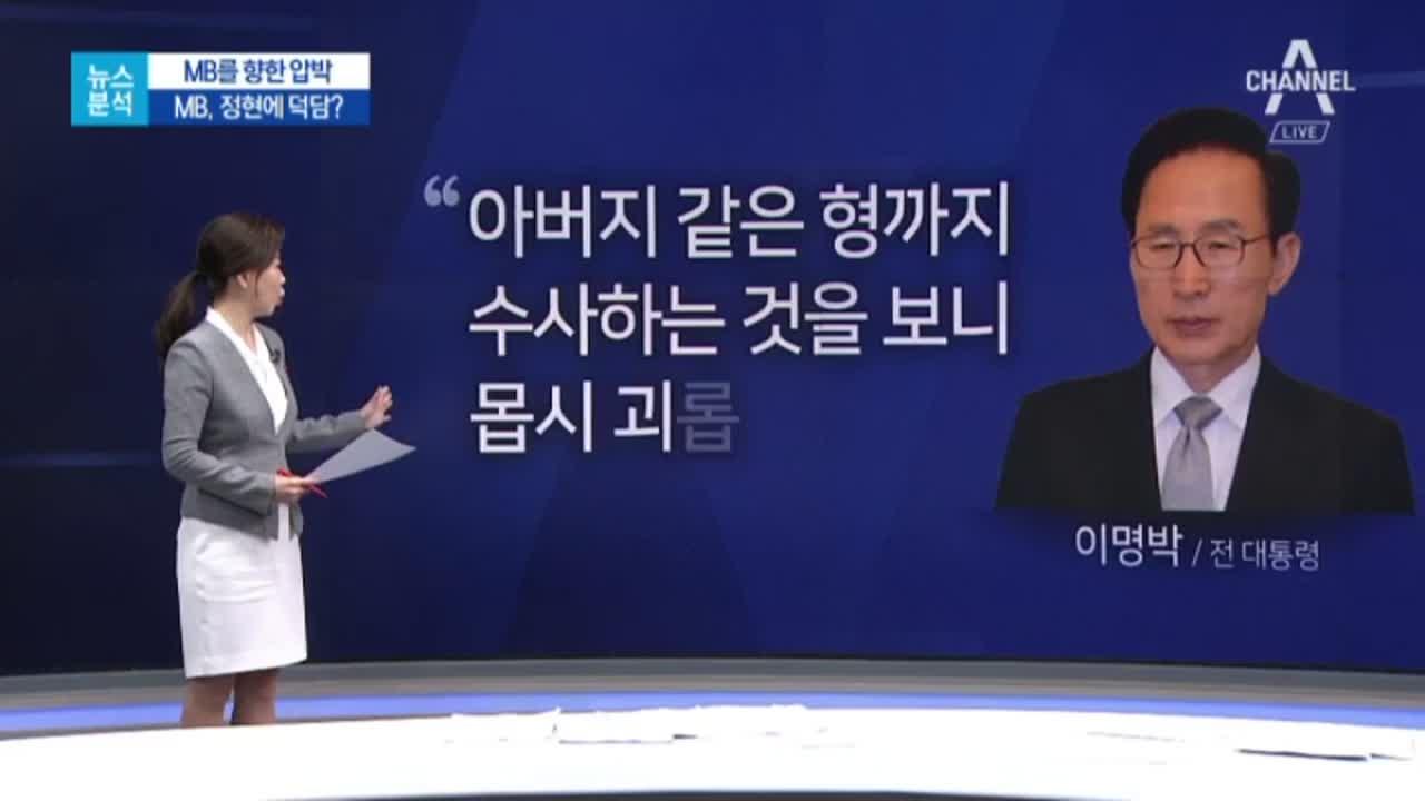 """[뉴스분석]MB """"형마저 수사…몹시 괴롭다"""""""