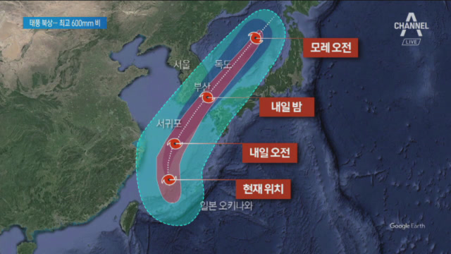 600mm '물폭탄' 안고 태풍 '타파' 북상…돼지열병....