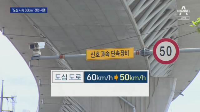 """""""17일부터 도심 제한속도 시속 50km""""…'-10km...."""