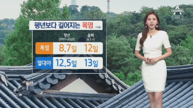 [날씨]내일 우산 챙기세요…폭염 속 소나기 소식