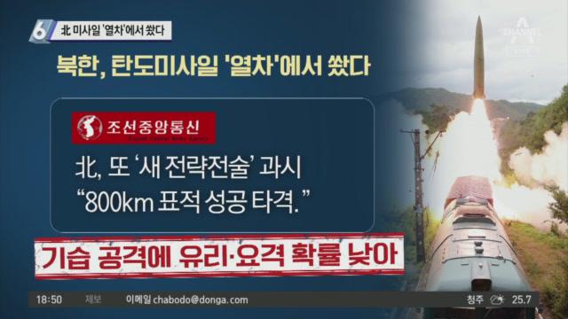 북한 탄도미사일의 진화?…이번에는 열차에서 쐈다