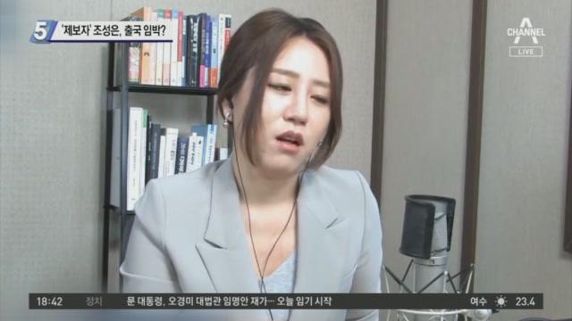 """'제보자' 조성은, 출국 임박?…""""내 할 일은 끝났다"""""""