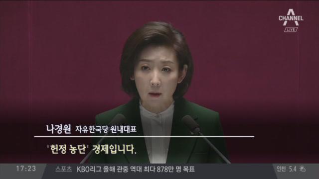 """[순간포착] """"文, 김정은의 수석대변인"""" 나경원 연설에...."""