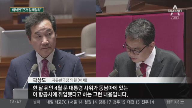 곽상도, 대정부 질문서 대통령 사위 취직 의혹 제기