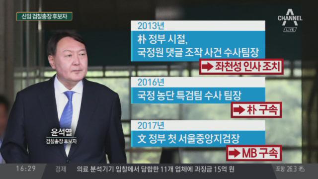 차기 검찰총장 '파격' 인사…윤석열 후보자 누구?