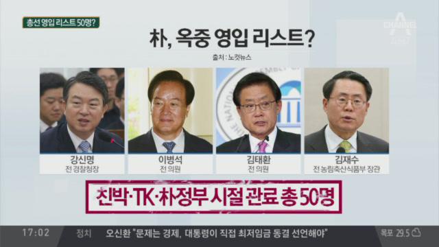 박근혜, '우리공화당' 총선 영입 50명 구상