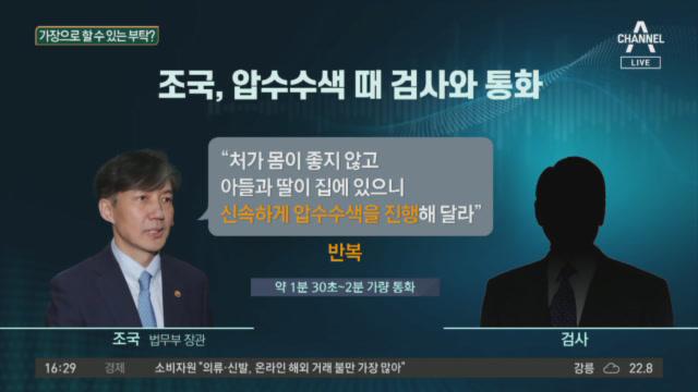 조국, 압수수색 때 검사와 통화…'수사 개입' 논란