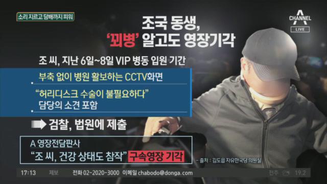 병실서 담배 피우다가 적발…조국 동생 '꾀병' 의혹
