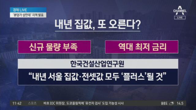 '분양가 상한제' 지역 오늘 발표…강남 3구 등 대상지....