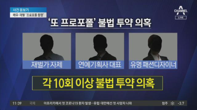 유명 배우·재벌가 자제, '프로포폴 불법 투약' 의혹