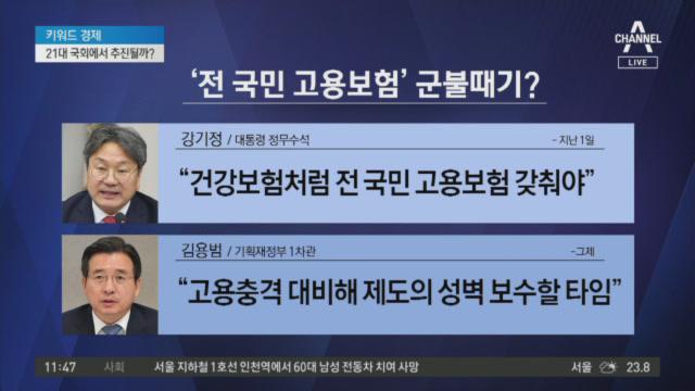 청와대, '전 국민 고용보험' 논의 본격화?