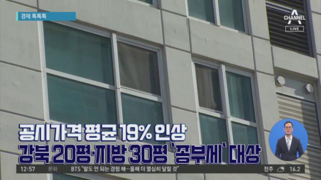 [경제 톡톡톡]공시가격 평균 19% 인상…강북 20평 ....