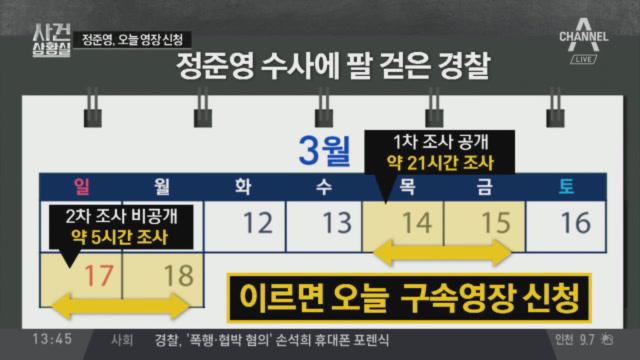 경찰, 이르면 오늘 정준영 구속영장 신청