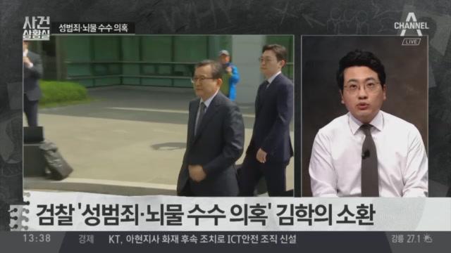 검찰, '성범죄·뇌물 수수 의혹' 김학의 소환