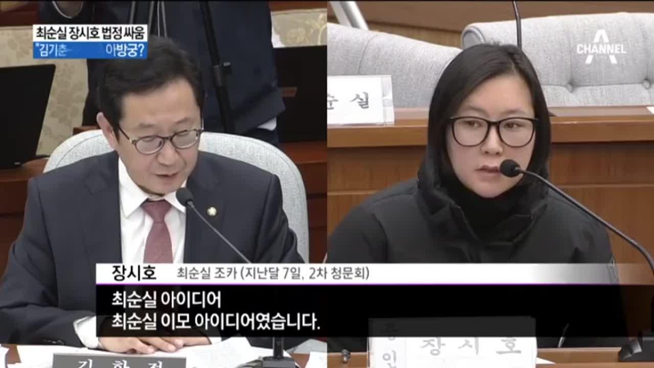 최순실 장시호 법정 싸움…등돌린 이모와 조카 '격돌'