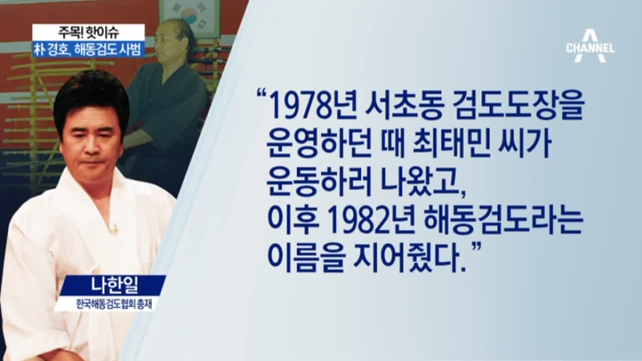 최태민 '해동검도' 명명?…朴 경호, 해동검도 사범