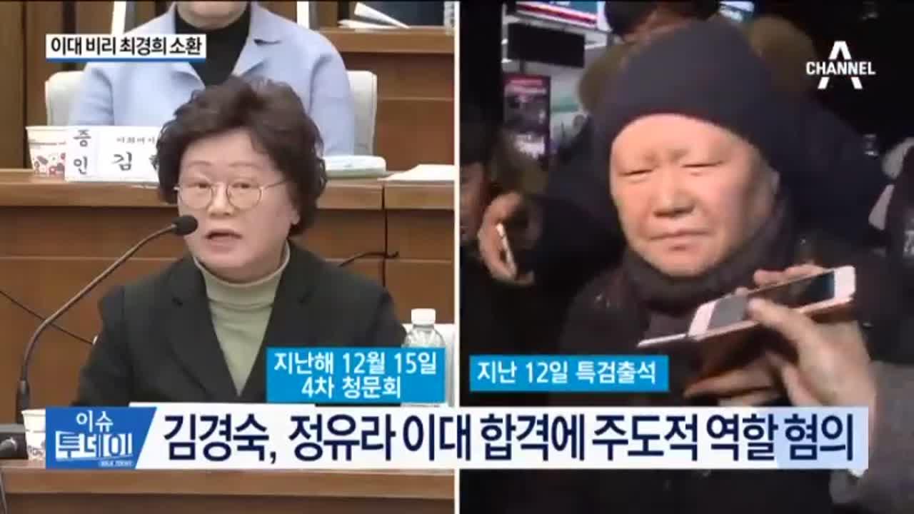 '이대 비리' 최경숙 소환…암투병 김경숙 구속