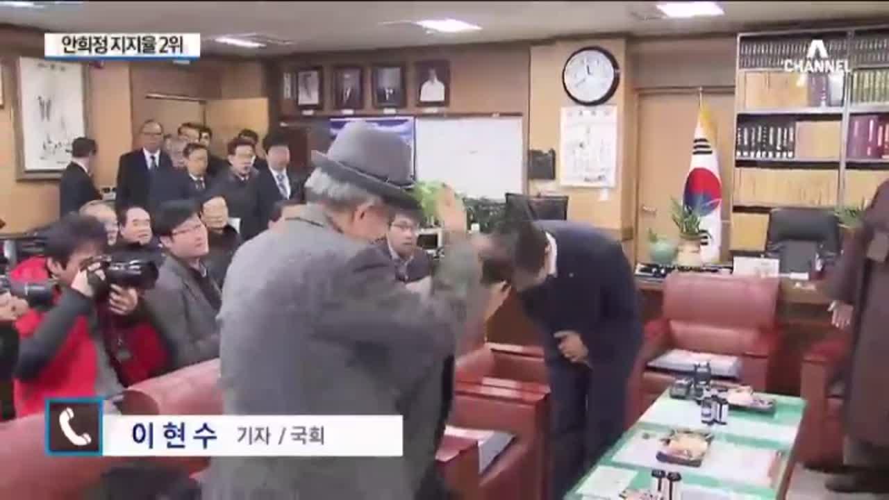 반기문 '불출마'…안희정 '지지율 2위'