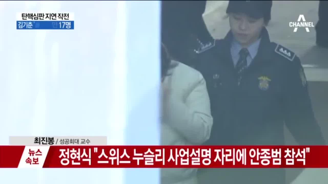 탄핵심판 지연 작전…박 대통령 탄핵 심판 두 달