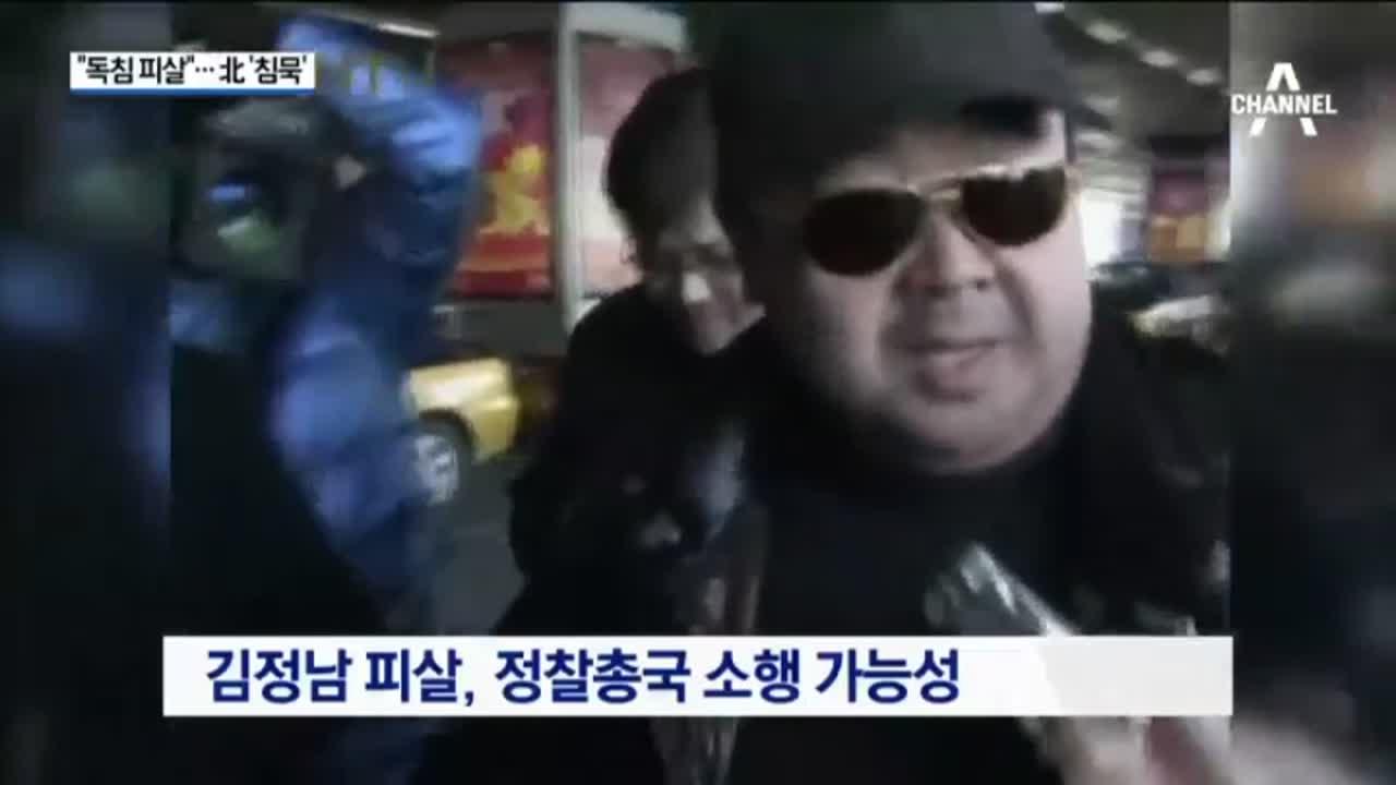 """정부 """"김정남, 독침 피살""""…북한 '침묵'"""