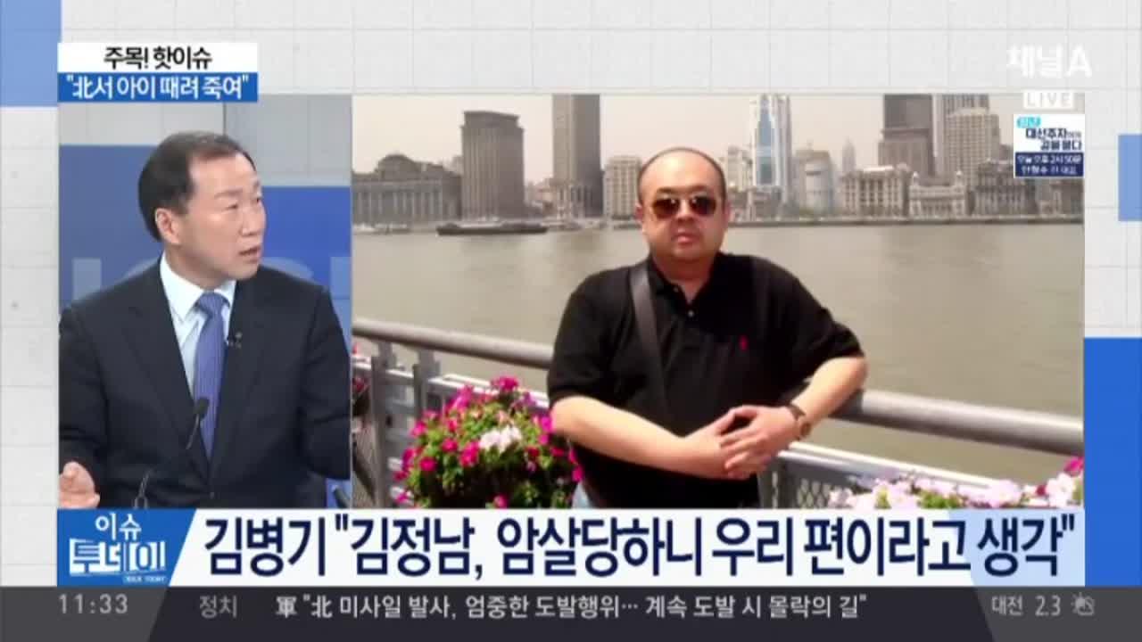 """""""김정남도 살인마""""…""""北서 아이 때려 죽여"""""""