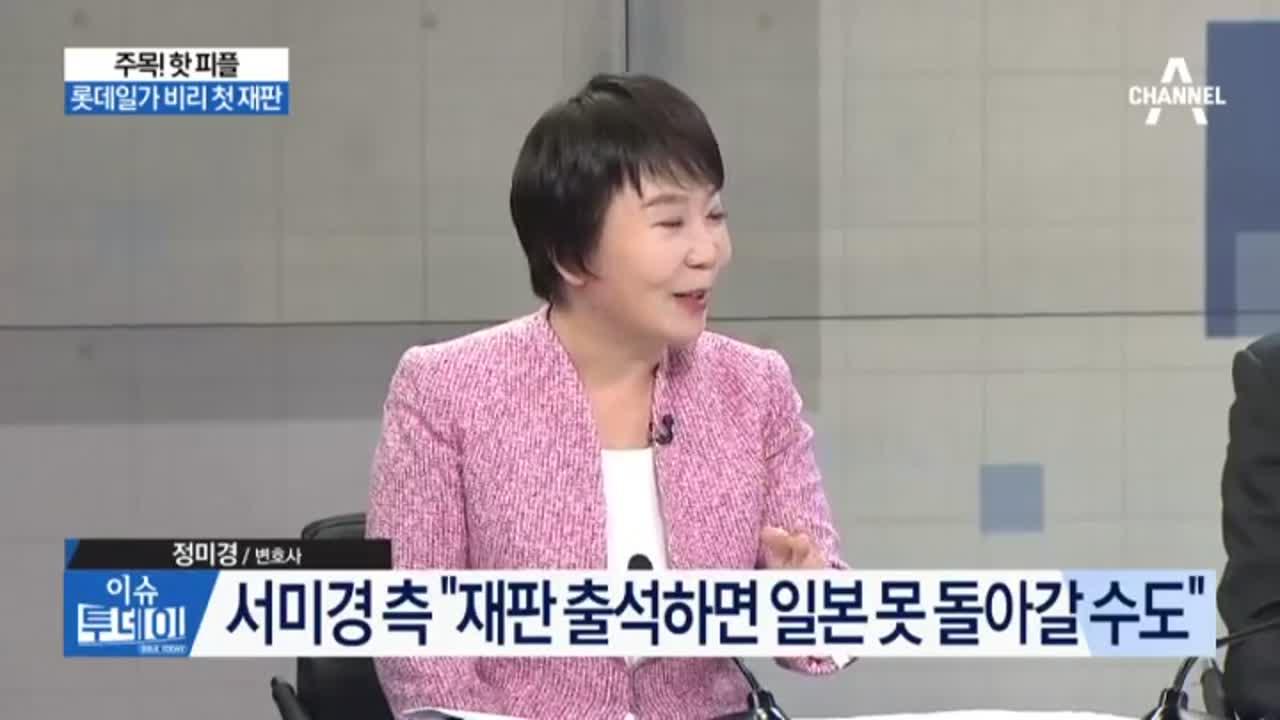 서미경, 롯데 일가 재판 나온다…일본서 귀국