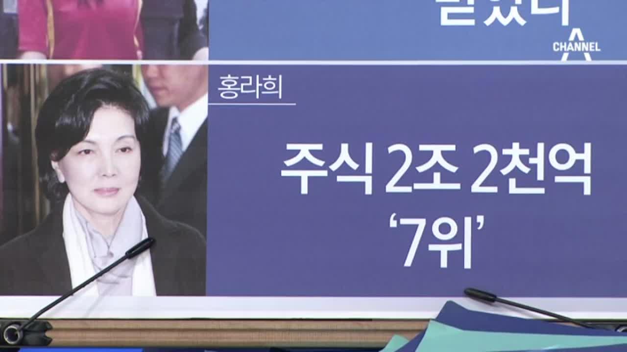 홍라희 주식 2조 2천억 대박…삼성 경영권 핵심?