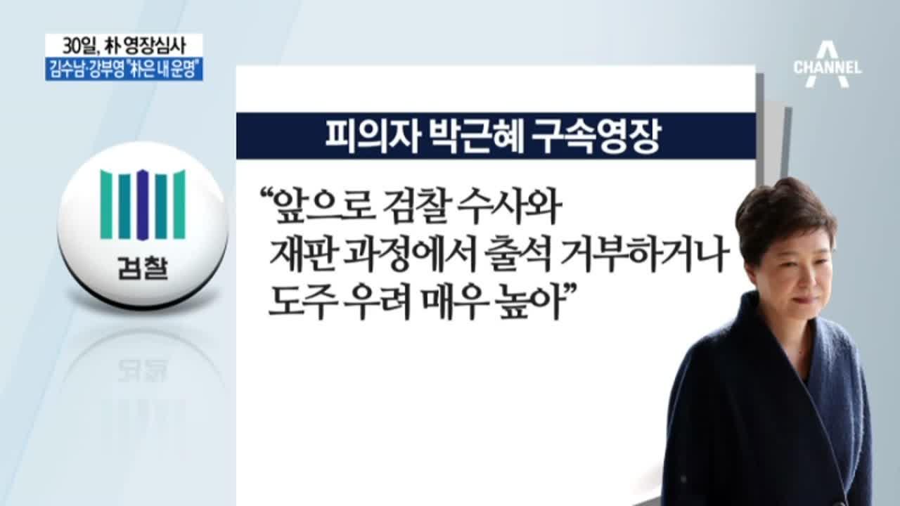 30일, 朴 영장심사…朴 '도주 우려' 영장 청구