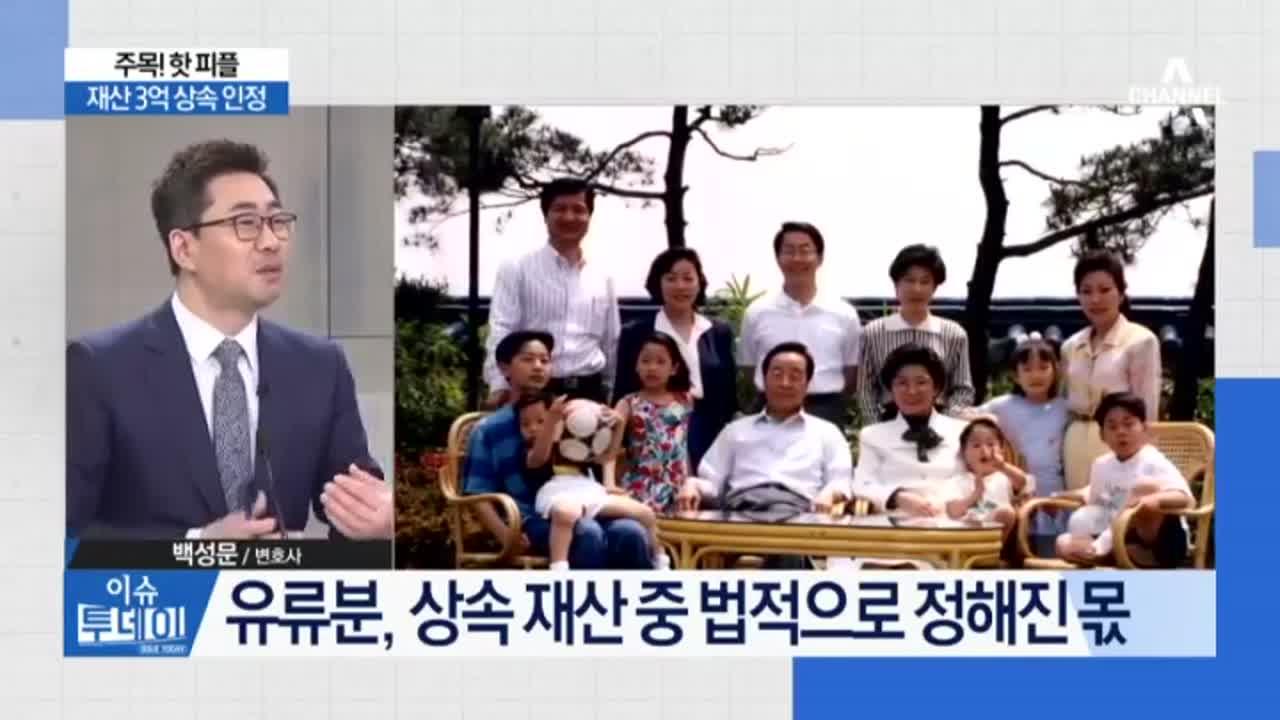 """""""김영삼민주센터, 김영삼 혼외자에 3억 줘라"""""""
