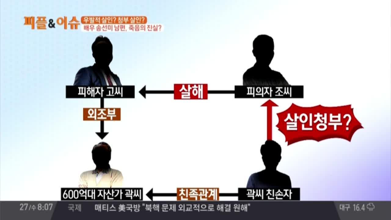 배우 송선미 남편 죽음의 진실은?… 우발적 살인? 청부....