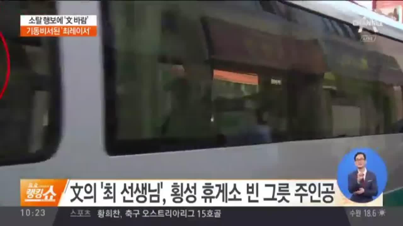 소탈 행보에 '文 바람'…기동비서된 '최레이서'