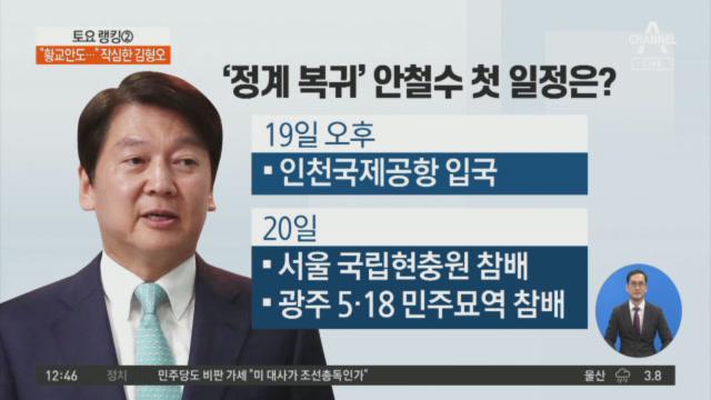 '정계 복귀' 안철수…통합-복귀-신당, 선택은?