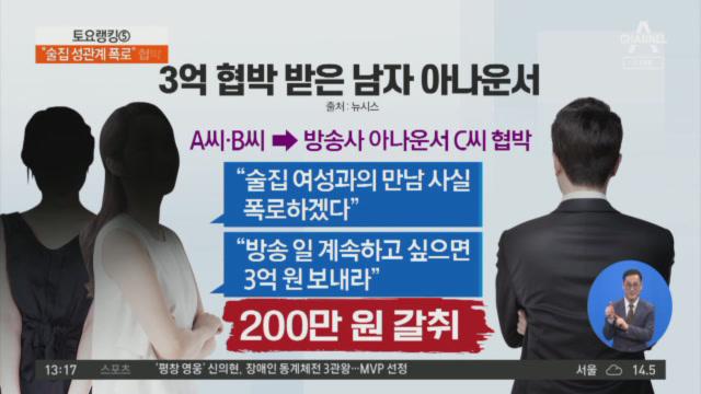 男 아나운서에 3억 요구한 유흥업소 종업원?