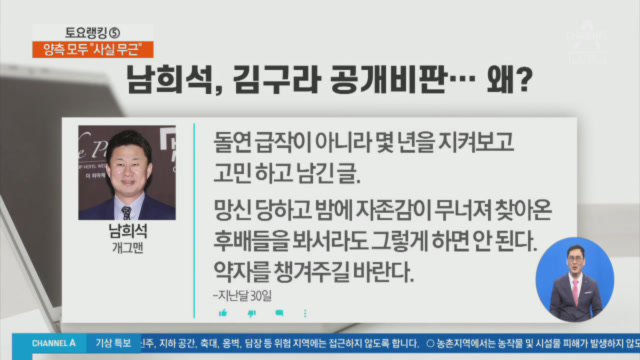 남희석, SNS서 김구라 방송 태도 '작심 비판'