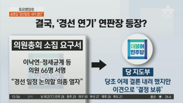 '대선 경선 연기론'에 반으로 갈라진 민주당