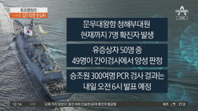 청해부대 1명 추가 확진…간이검사서 49명 '양성'