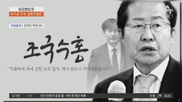 """'조국 옹호' 홍준표, 당내 """"조국수홍은 뭐야홍"""""""