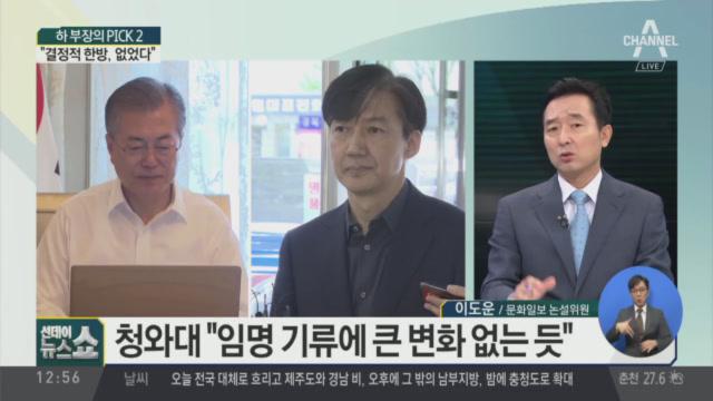 """조국 임명 기류 변함 없다…""""결정적 한방 없었다"""""""