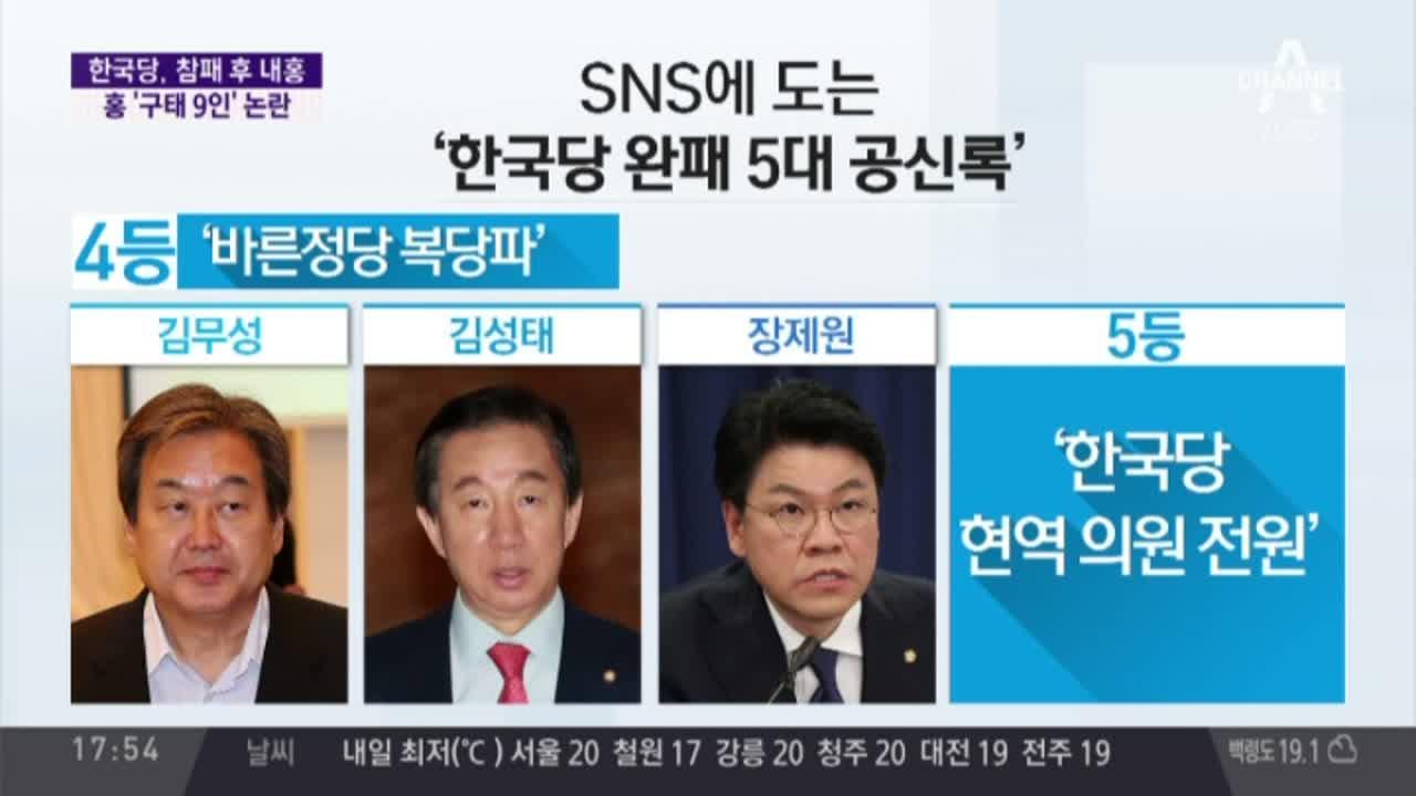 """한국당 '무릎 반성' 뒤 집안싸움…초선 """"중진, 은퇴하...."""