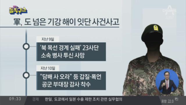 北 목선 경계실패·가혹행위 등…軍 '기강해이 심각'